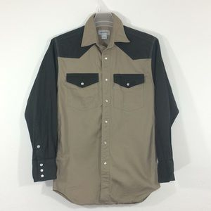 Carhartt green/tan heavy duty longsleeve shirt-S